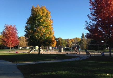 Park time on a beautiful fall day!